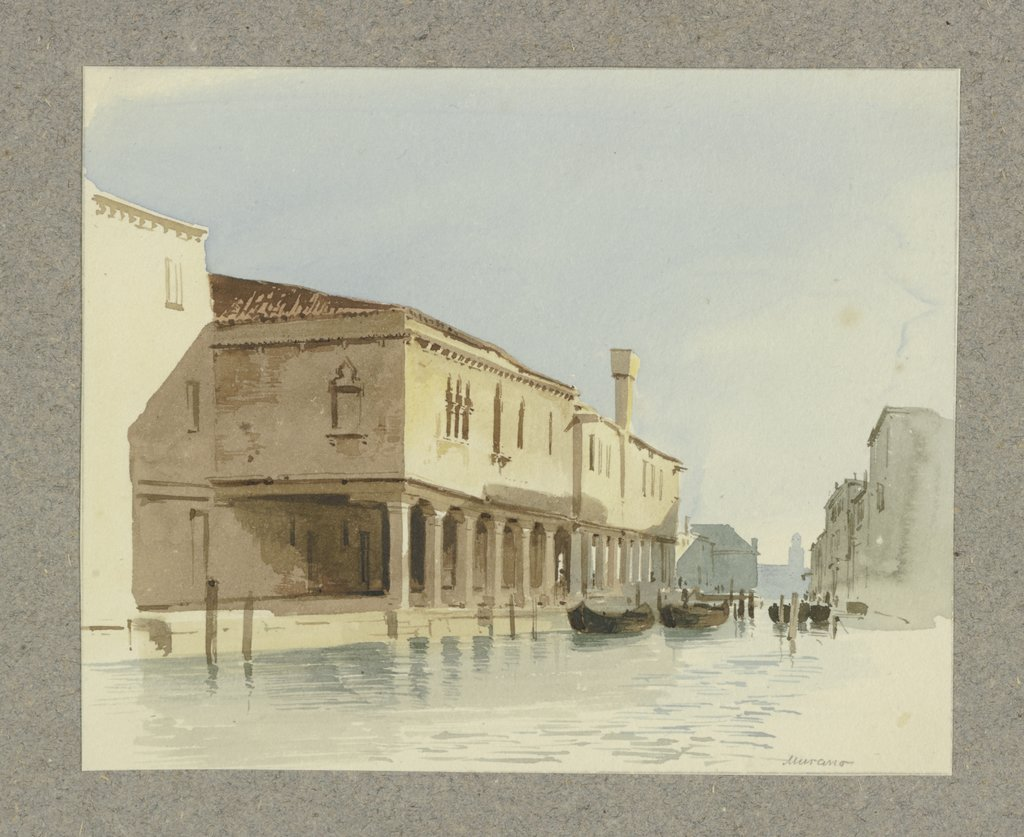 Channel section in Murano, Carl Theodor Reiffenstein