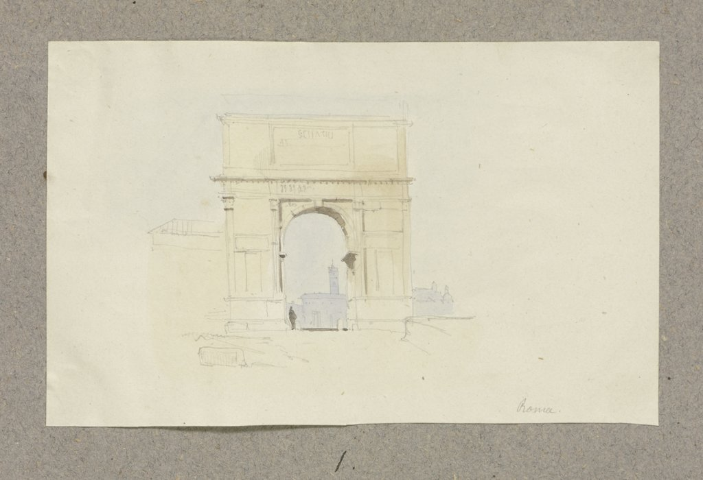 The Arch of Titus in Rome, Carl Theodor Reiffenstein