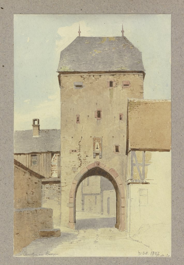 The main gate in Bergen, Carl Theodor Reiffenstein