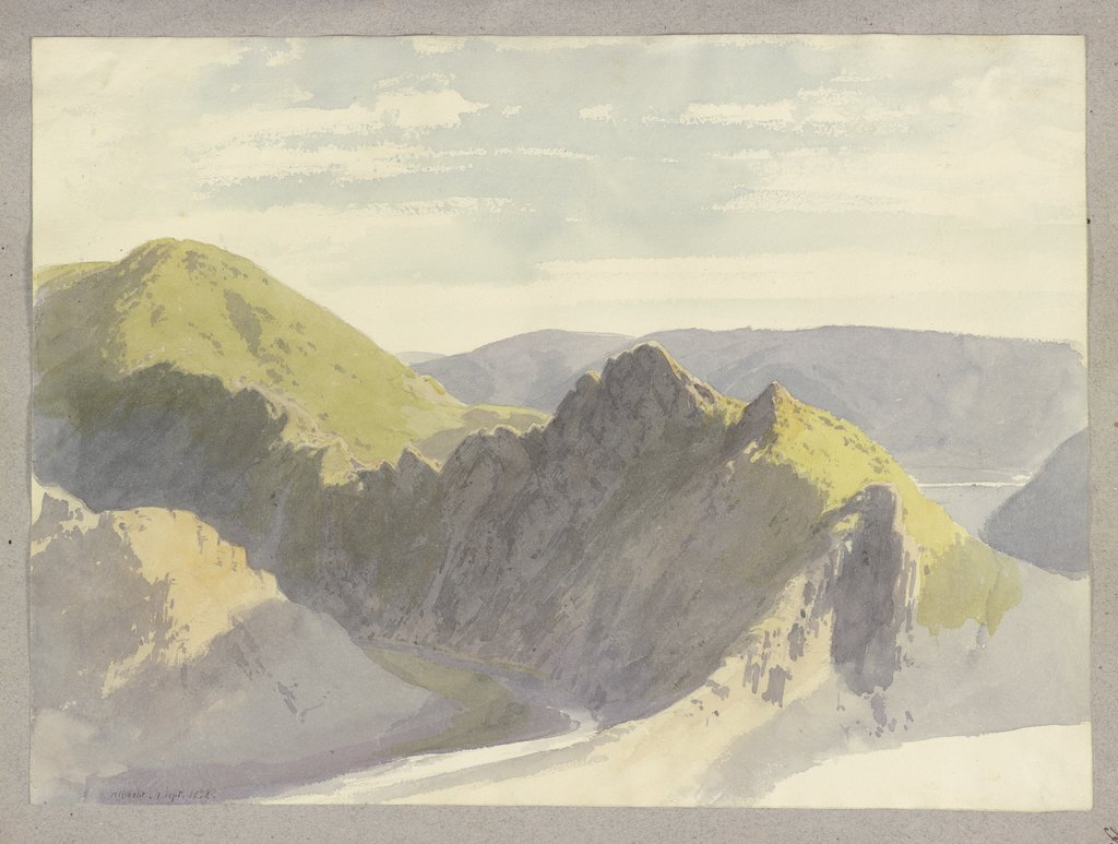 The Ahr Valley near Altenahr, Carl Theodor Reiffenstein