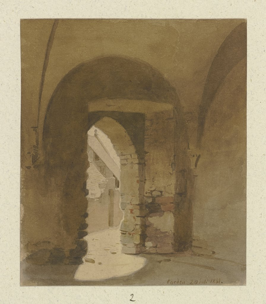 Vaulted room in Karden, Carl Theodor Reiffenstein
