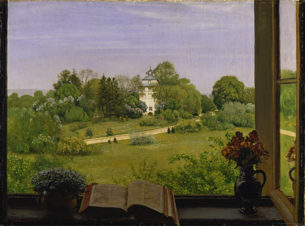 """Die Öd"" View of Holzhausenpark, Hans Thoma"
