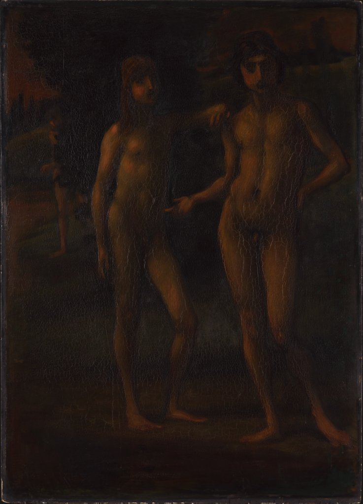 "Youths in a Landscape (""Two Youths""), Hans von Marées"