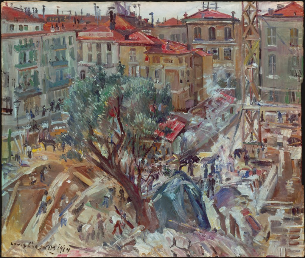 New Building in Monte Carlo, Lovis Corinth