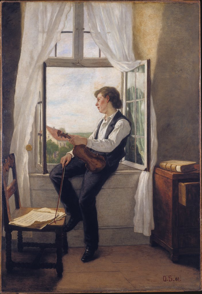 The Violinist by the Window, Otto Scholderer