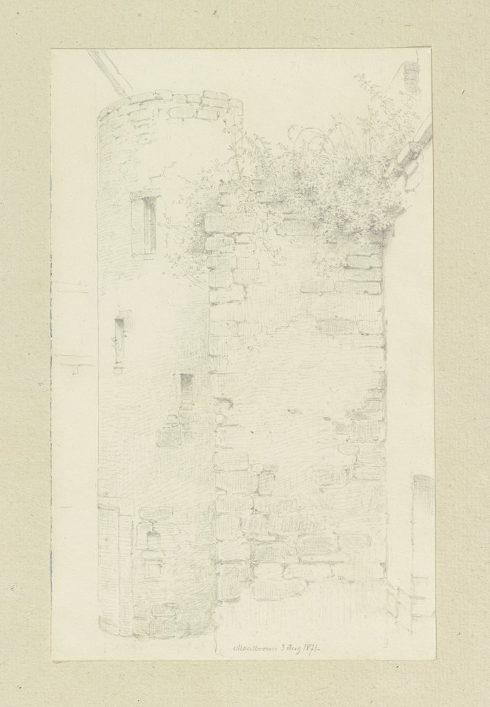Walls in Maulbronn, Carl Theodor Reiffenstein