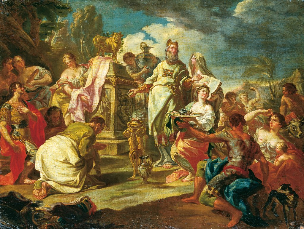 The Adoration of the Golden Calf, Venetian Master 18th century