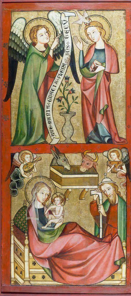 Annunciation and Nativity, Rhenish Master ca. 1330