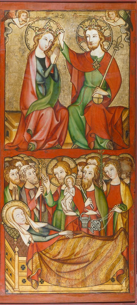 Coronation and Death of the Virgin, Rhenish Master ca. 1330