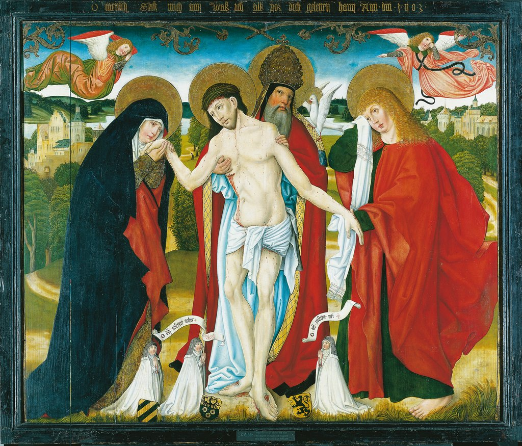 The Holy Trinity with the Virgin Mary and St John the Evangelist, Master of the Wendelin Altar