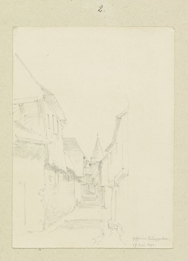 Alley in Hofheim, Carl Theodor Reiffenstein