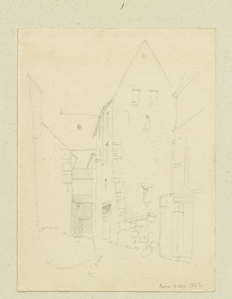 Row of houses in Kirn, Carl Theodor Reiffenstein