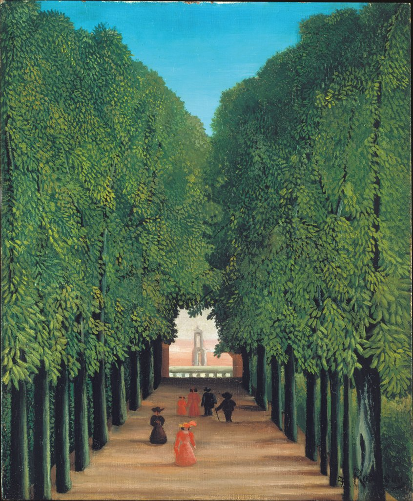 The Avenue in Saint-Cloud Park, Henri Rousseau