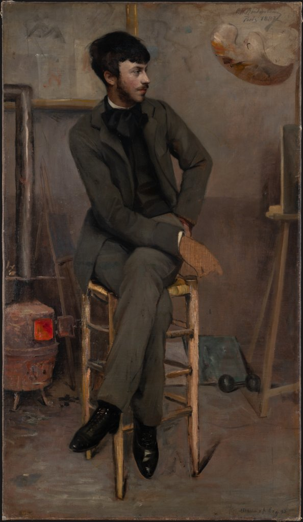Portrait of a Painter in a Parisian Studio, Ottilie W. Roederstein