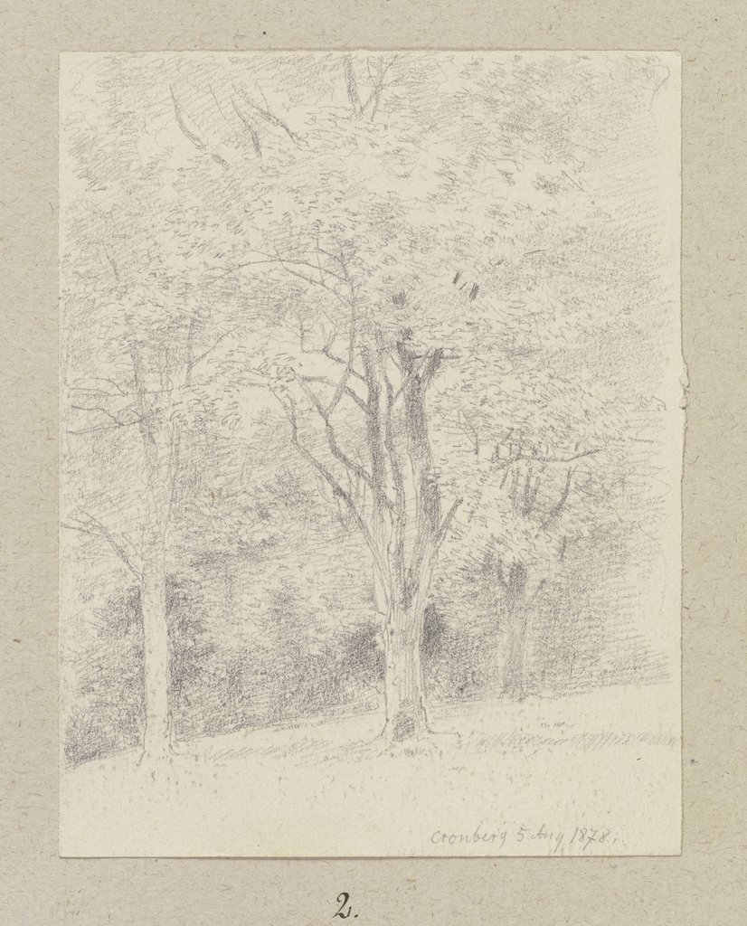 Group of trees near Kronberg, Carl Theodor Reiffenstein