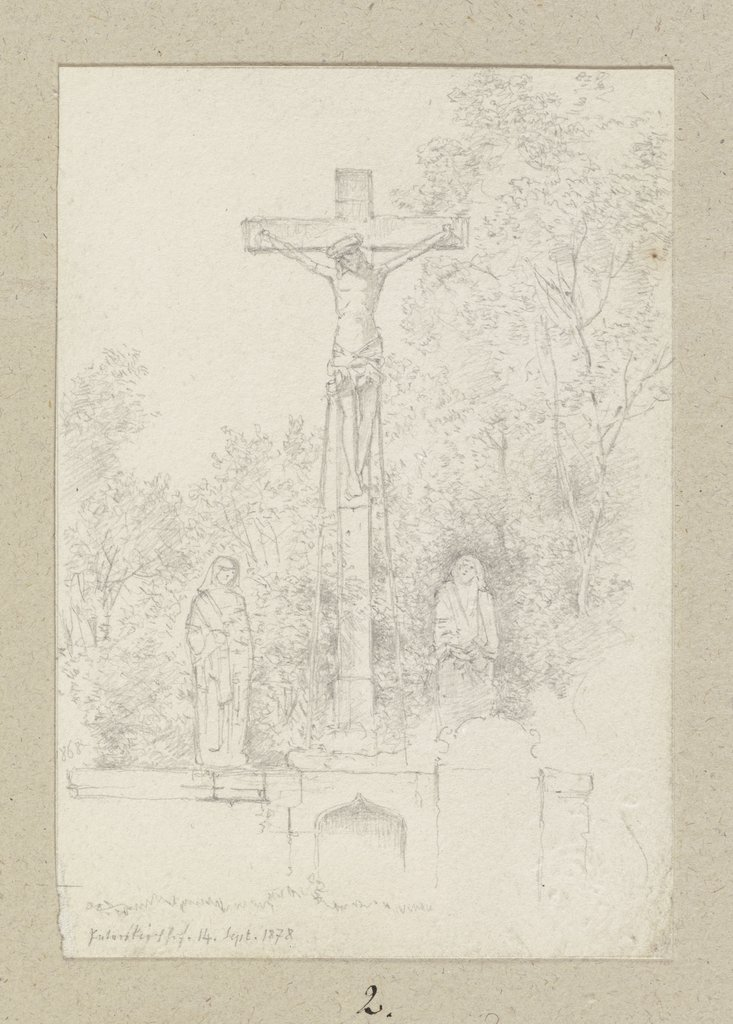 Monuments with crucifix, Carl Theodor Reiffenstein