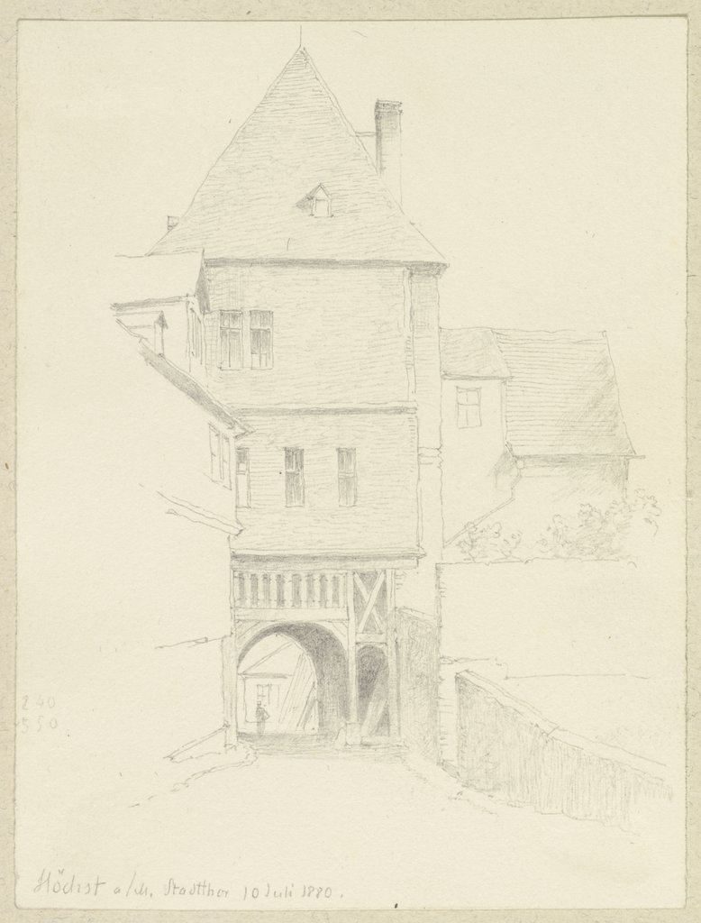 The city gate of Höchst, Carl Theodor Reiffenstein