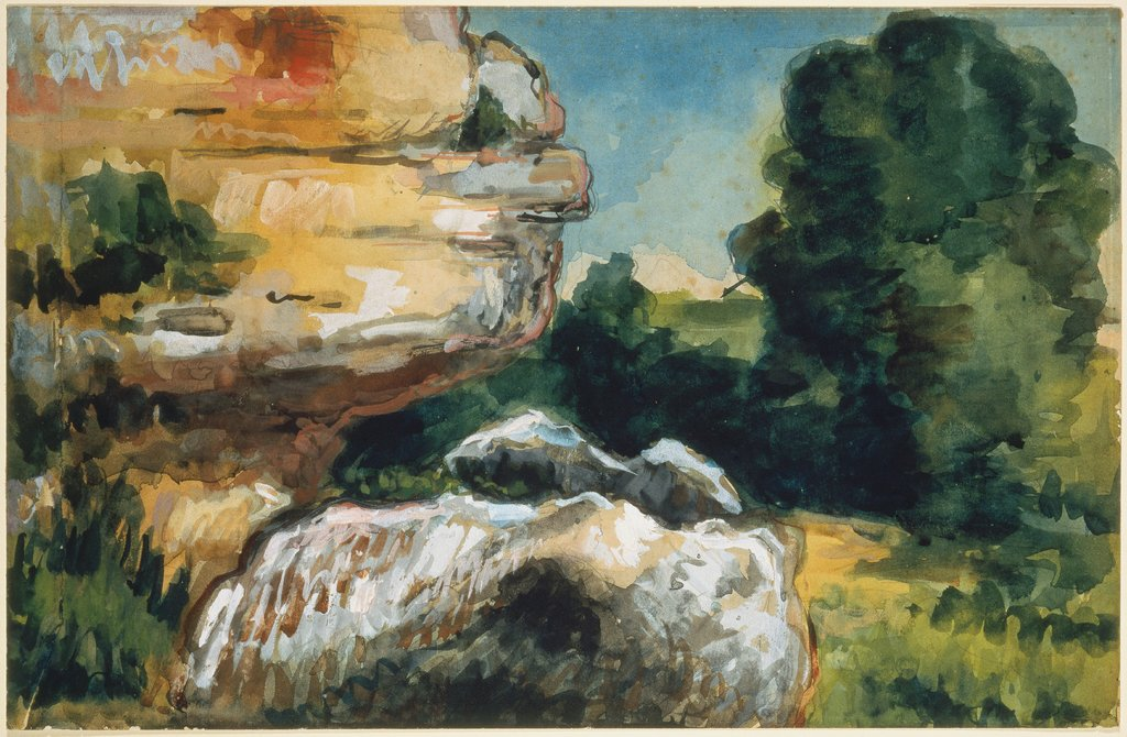 Aquarelle, Impression d'après nature, Paul Cézanne