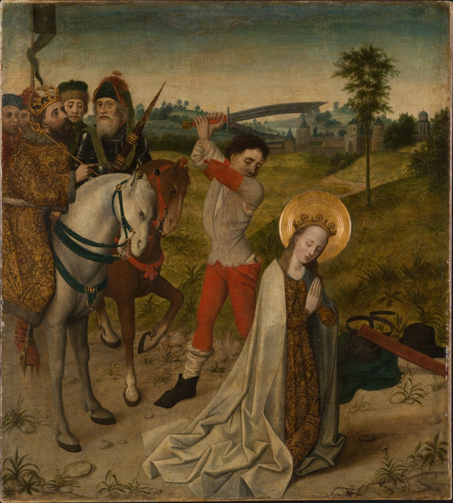 Decapitation of St Catherine, Cologne Master around 14170/80