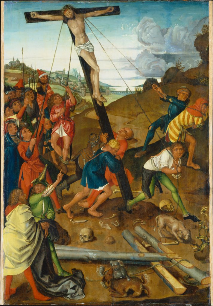 Raising of the Cross (Centre Panel of the Triptych), Kopie nach Master of the Stötteritz Altar