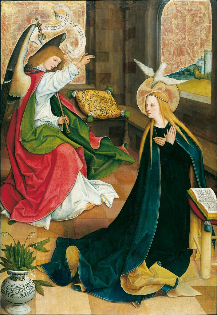 The Annunciation, Master of the Pfullendorf Altar, Bartholomäus Zeitblom  Werkstatt ?