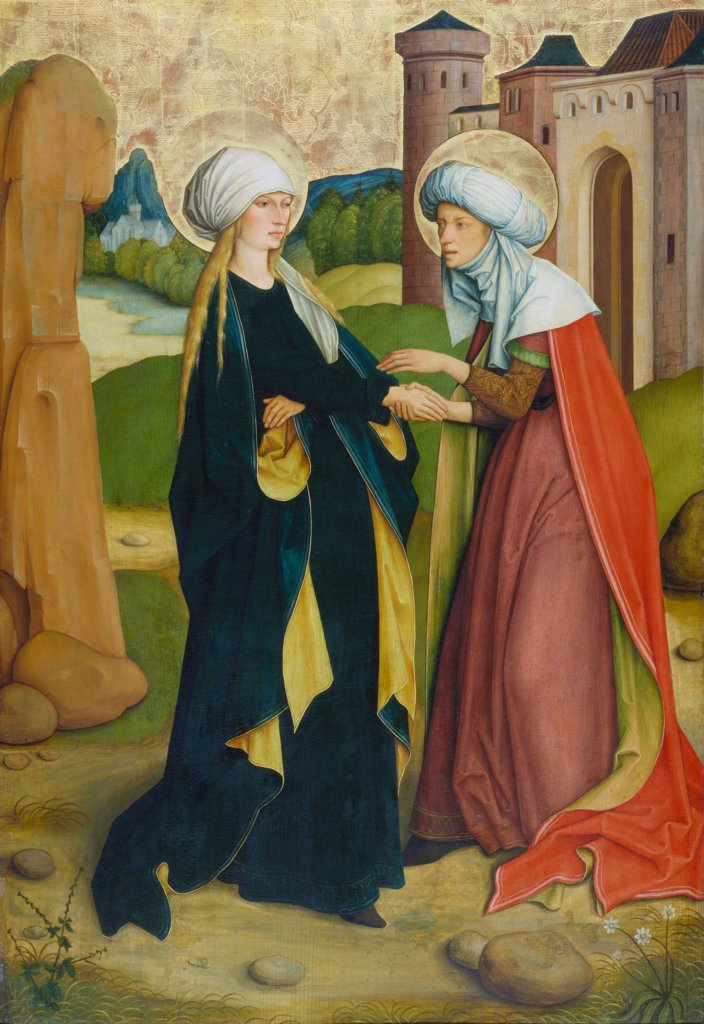 The Visitation, Master of the Pfullendorf Altar, Bartholomäus Zeitblom  Werkstatt ?