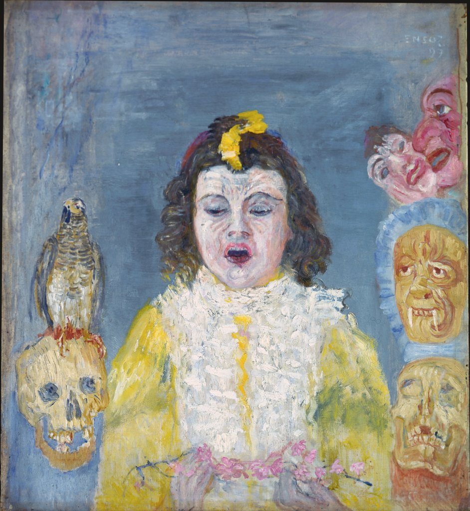 Girl with Masks (Communion), James Ensor