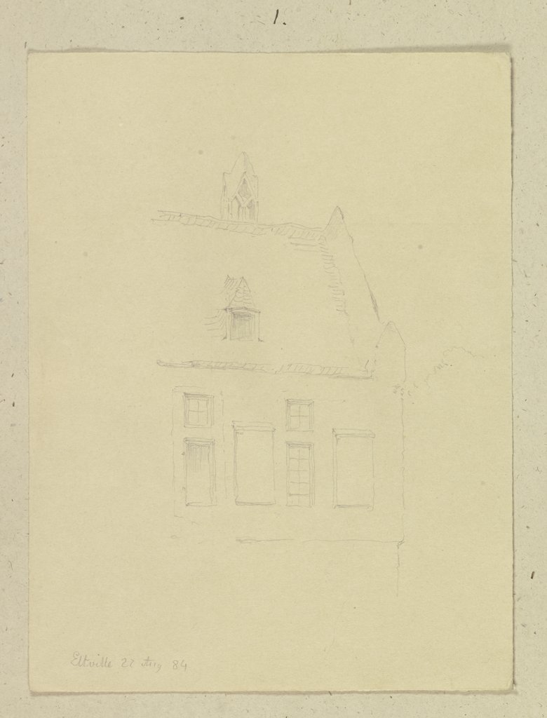 Buildings in Eltville, Carl Theodor Reiffenstein