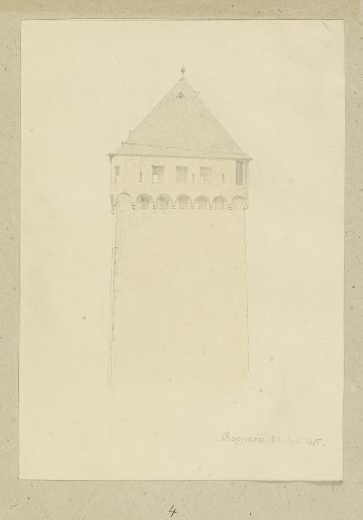 Tower in Boppard, Carl Theodor Reiffenstein