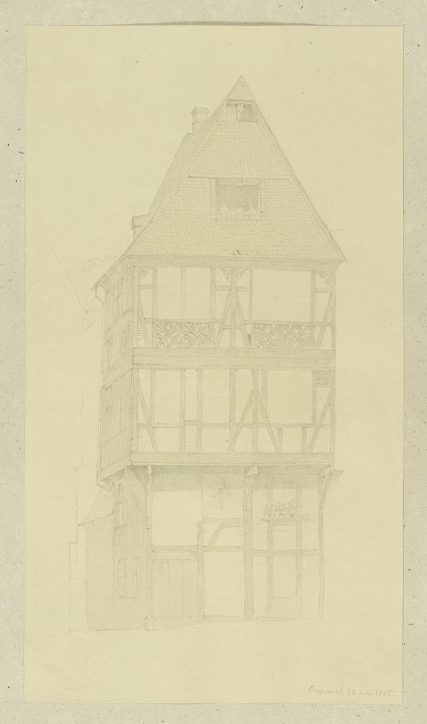 Half-timbered house in Boppard, Carl Theodor Reiffenstein