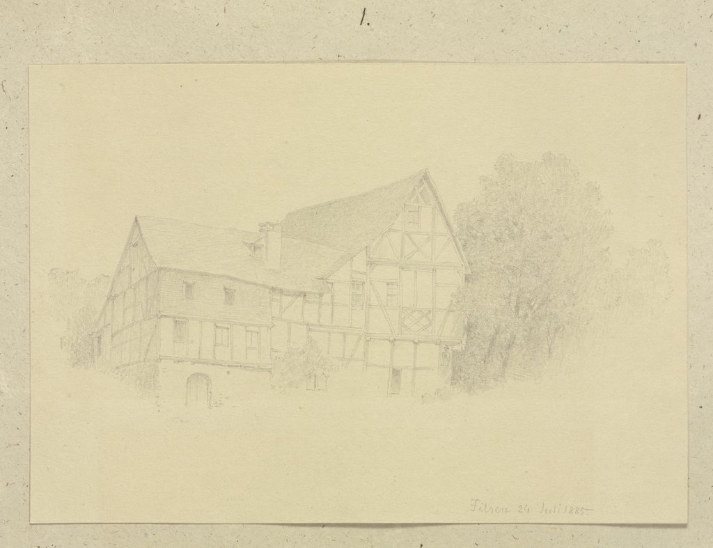 Half-timbered house in Filsen, Carl Theodor Reiffenstein