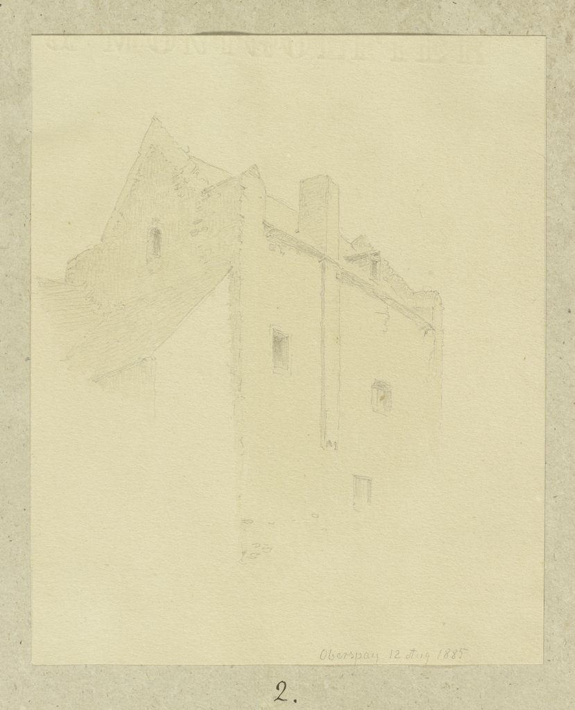 Buildings in Oberspay, Carl Theodor Reiffenstein