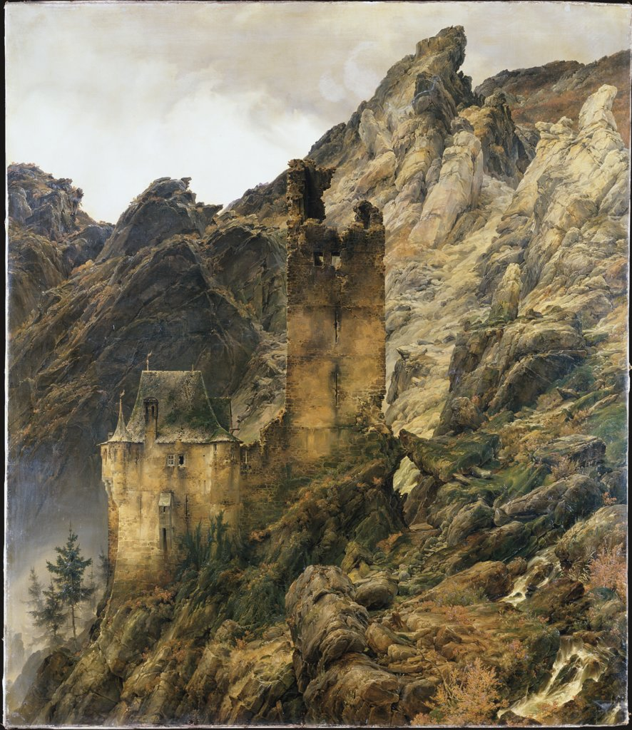 Rocky Landscape: Gorge with Ruins, Carl Friedrich Lessing