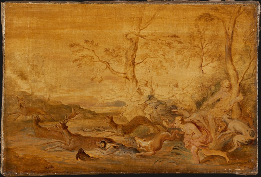 The Hunt of Diana, copy after Peter Paul Rubens