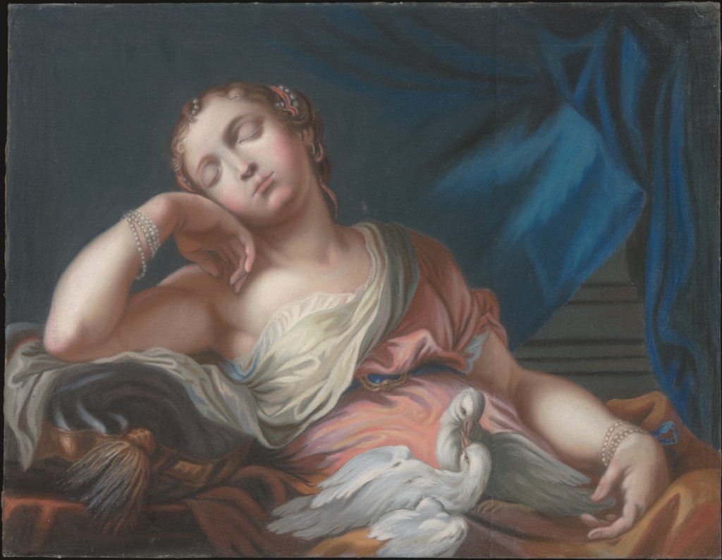 Sleeping Venus with Two Cooing Doves, Unknown, 18th century