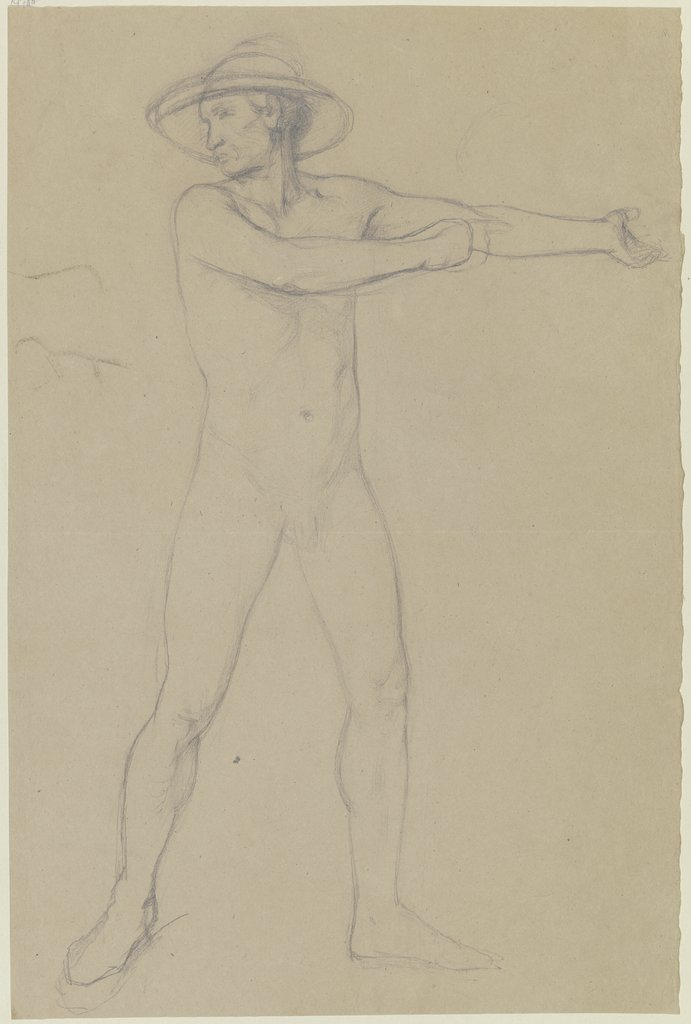 Male nude with hat, Jakob Becker
