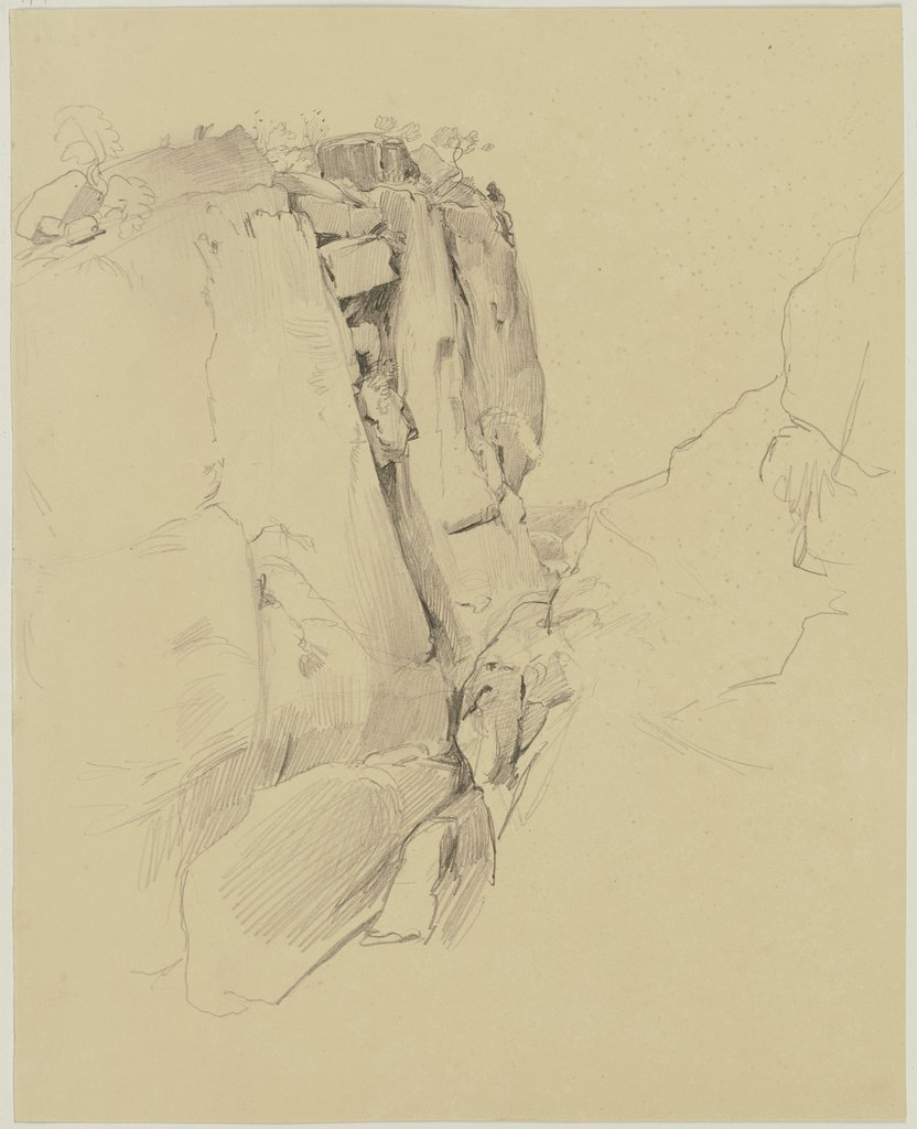 Rock face, Jakob Becker
