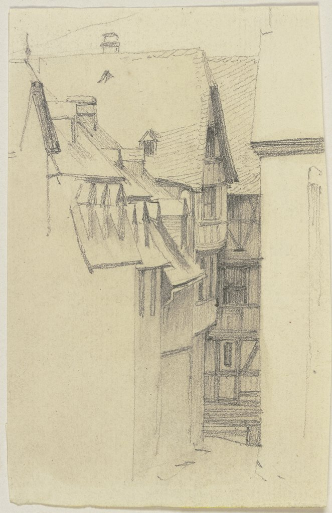 Row of houses, Jakob Becker