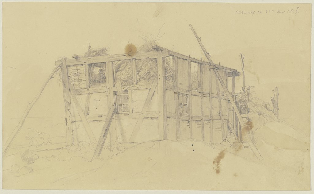 Barn in ruins, Jakob Becker