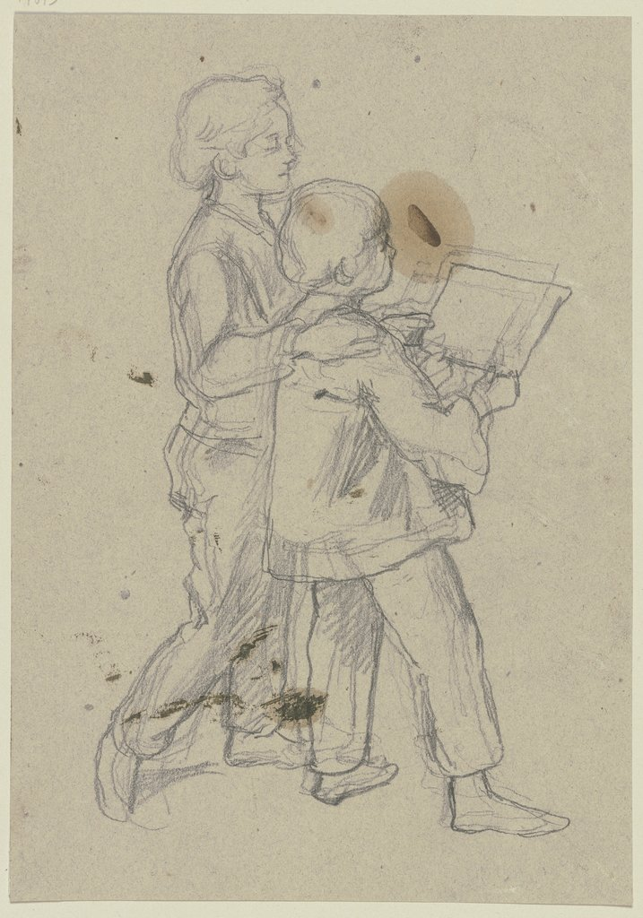 Two reading boys, Jakob Becker