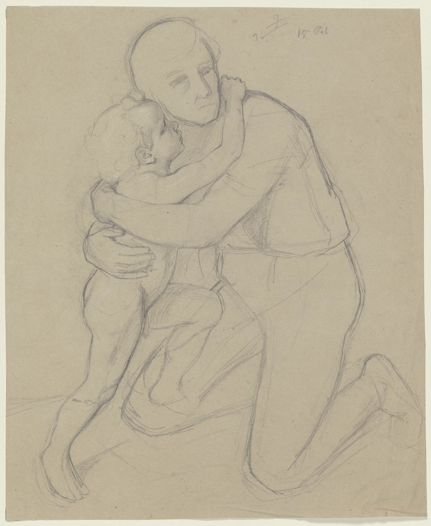 Man with child, Jakob Becker