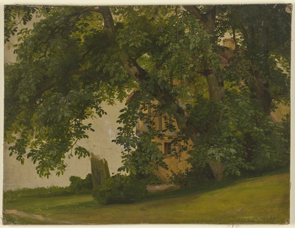 House behind trees, Jakob Becker