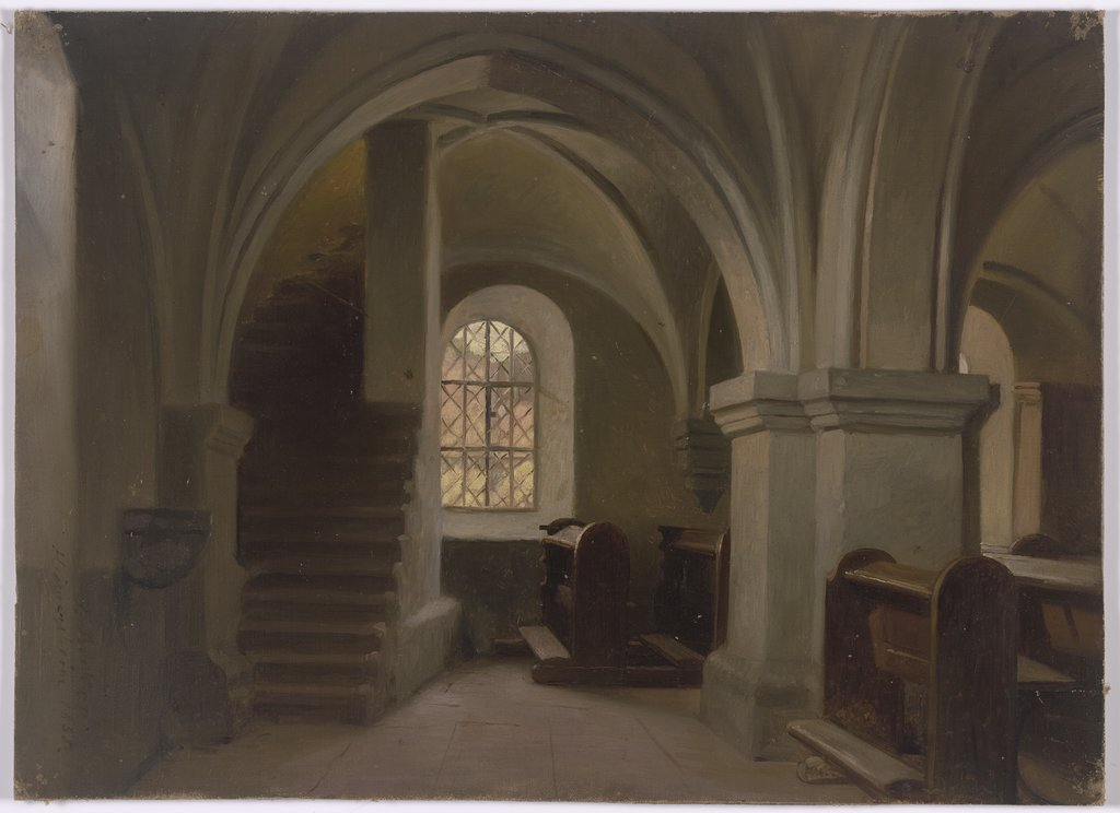 Church interior, Jakob Becker