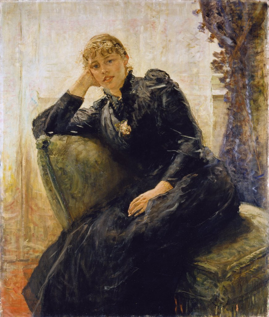 Portrait of a Lady (Portrait of Therese Karl), Fritz von Uhde