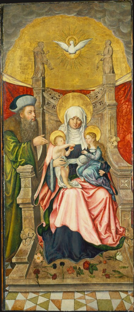 Saint Anne with the Virgin and Child, and Joachim, Martin Kaldenbach
