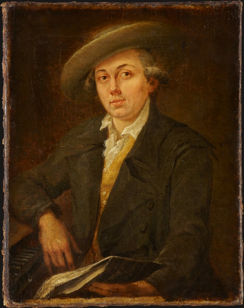 Portrait of a Musician (Portrait of the Composer Joseph Martin Kraus?), Johann Georg Schütz