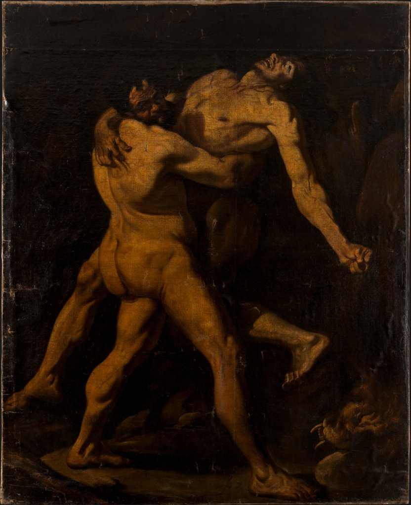 Hercules and Antaeus, Italian Master 17th century