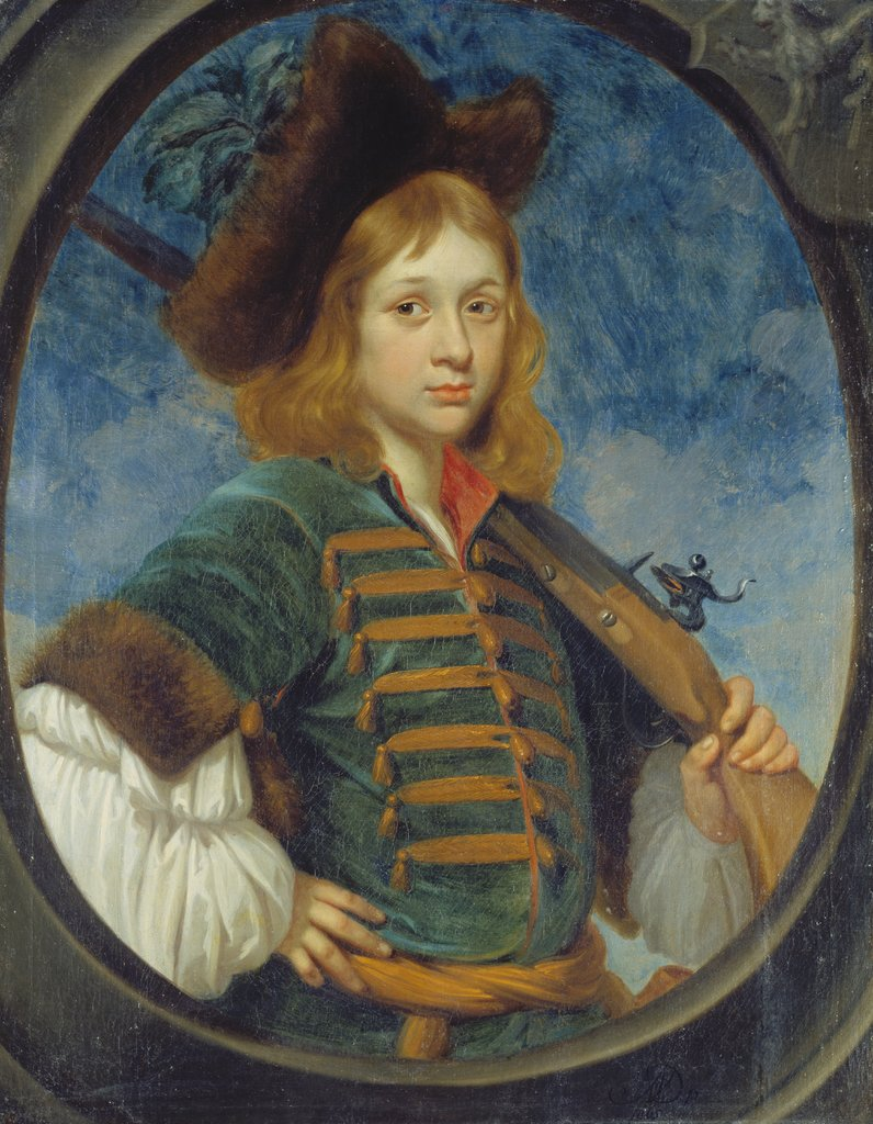 Portrait of a Boy Dressed as a Hunter, German Master second half of the 17th century