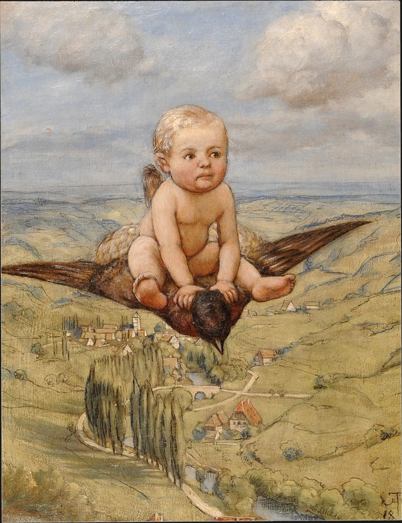 Riding on a Bird, Hans Thoma