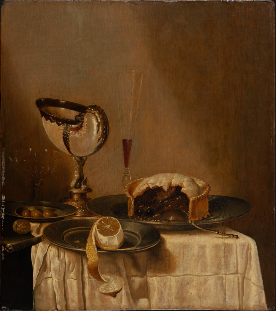 Still Life with Nautilus Cup, copy after Willem Claesz. Heda
